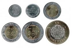 México 2014-2015 6 Valores (20 Cent,50 Cent. 1,2,5 y 10 Pesos) S/C