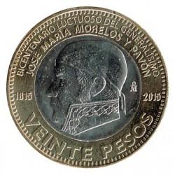 Méjico 2015 20 Pesos (Bicentenario de la muerte de Morelos) S/C