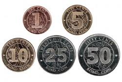 Zimbabwe 2014 5 valores Monedas-bono (1,5,10,25 y 50 cent.) S/C