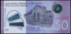 Nicaragua 50 Córdobas PK Nuevo (2.014) S/C