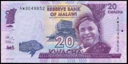 Malawi 20 Kwacha PK Nuevo (1-1-2.015) S/C