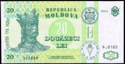 Moldavia 20 Lei PK 13h (2.010) S/C