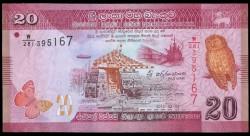 Sri Lanka 20 Rupias PK 123c (4-2-2.015) S/C