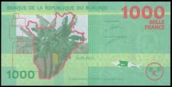 Burundi 1.000 Francos PK Nuevo (15-1-2.015) S/C