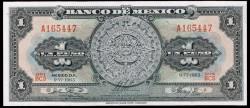 Mexico 1 Peso pick 59i (9-VI-1965) UNC