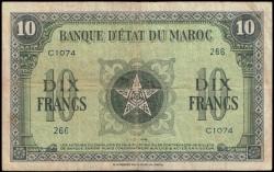 Marruecos 10 Francos PK 25 (1-5-1.943) MBC
