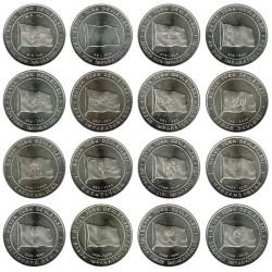 Turkey 2015 16 1 Lirai coins. HISTORIC STATES of TURKS S/C