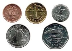 Barbados 2011-2012 5 valores (1,5,10 y 25 Cent. 1 Dólar.) S/C