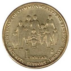 Australia 2009 5 1 Dólar. Centenario del Sistema de Pensiones S/C