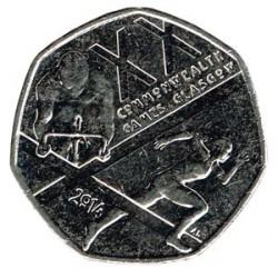 Gran Bretaña 2014 50 Peniques (Juegos de la Commonwealht) S/C