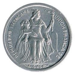 Nueva Caledonia 1949 50 Céntimos S/C