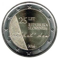 Eslovenia 2016 2 Euros. 25 Aniv. de la Independencia S/C