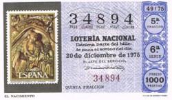 """1975 Año Completo Lotería Nacional """"Filatelia"""" S/C"""