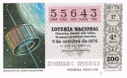 """1976 Año Completo Lotería Nacional """"Sistemas de Comunicación"""" S/C"""