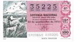 """1978 Año Completo Lotería Nacional """"Recursos Naturales"""" S/C"""