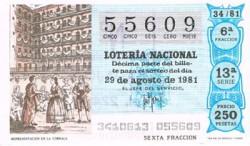 """1981 Año Completo Lotería Nacional """"El Teatro"""" S/C"""