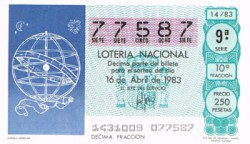 """1983 Año Completo Lotería Nacional """"La Navegación"""" S/C"""