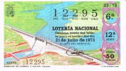 """1973 Año Completo Lotería Nacional """"España crece"""" S/C"""
