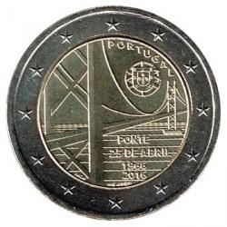 Portugal 2016 2 Euros Puente 25 de Abril S/C