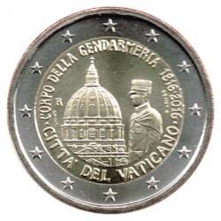 Vaticano 2016 2 Euros Bicentenario del Cuerpo de la Gendarmería S/C