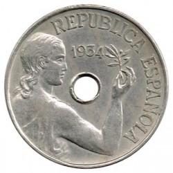 25 Ctms 2ª República 1934 EBC