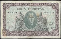 100 Pesetas 1940 Colón MBC-