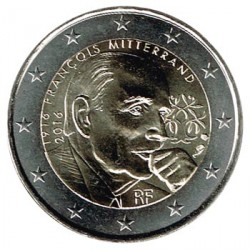 Francia 2016 2 Euros Mitterrand S/C