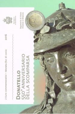 San Marino 2016 2 Euros Donatello S/C