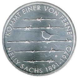Alemania 2016 20 Euros Plata Ceca F. Nelly Sachs S/C