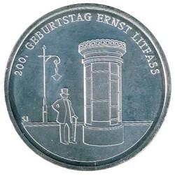 Alemania 2016 20 Euros Plata Ceca D. Ernst Litfass S/C