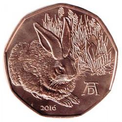 Austria 2016 5 Euros. Liebre Joven S/C