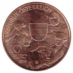 Austria 2016 10 Euros. Austria S/C