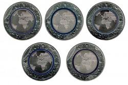 Alemania 2016 5 Euros . Planeta Tierra. Las 5 Cecas S/C