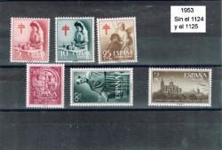 1953 Año incompleto de sellos