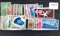 1958 Año completo de sellos