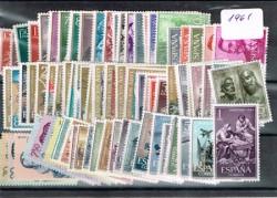 1961 Año completo de sellos