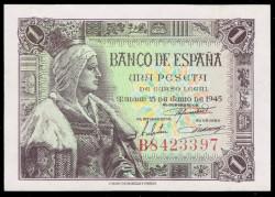 1 Peseta 1945 Isabel La Católica S/C-