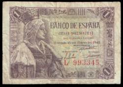 1 Peseta 1945 Isabel La Católica. BC-