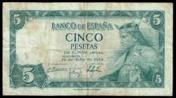 5 Ptas 1954 Alfonso X El Sabio MBC-