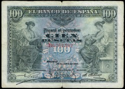 100 Pesetas 1906 MBC-