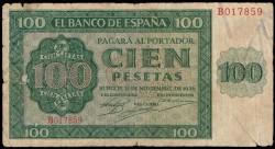 100 Pesetas 1936 Burgos Catedral RC-