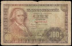 100 Pesetas 1948 Francisco Bayeu RC