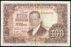 100 Pesetas 1953 Julio Romero de Torres MBC-