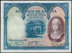 500 Pesetas 1927 Isabel La Católica MBC
