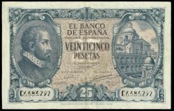 25 Pesetas 1940 Juan de Herrera MBC