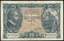 25 Pesetas 1940 Juan de Herrera MBC-