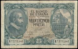 25 Pesetas 1940 Juan de Herrera BC+