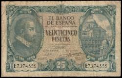 25 Pesetas 1940 Juan de Herrera BC-