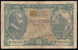 25 Pesetas 1940 Juan de Herrera RC+