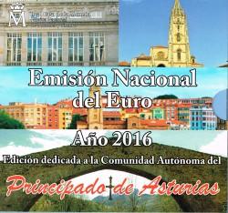 España 2016 Cartera Oficial Comunidades Asturias S/C